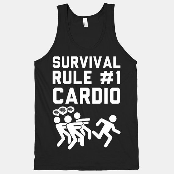Survival Rule Number 1 Cardio by ActivateApparel on Etsy