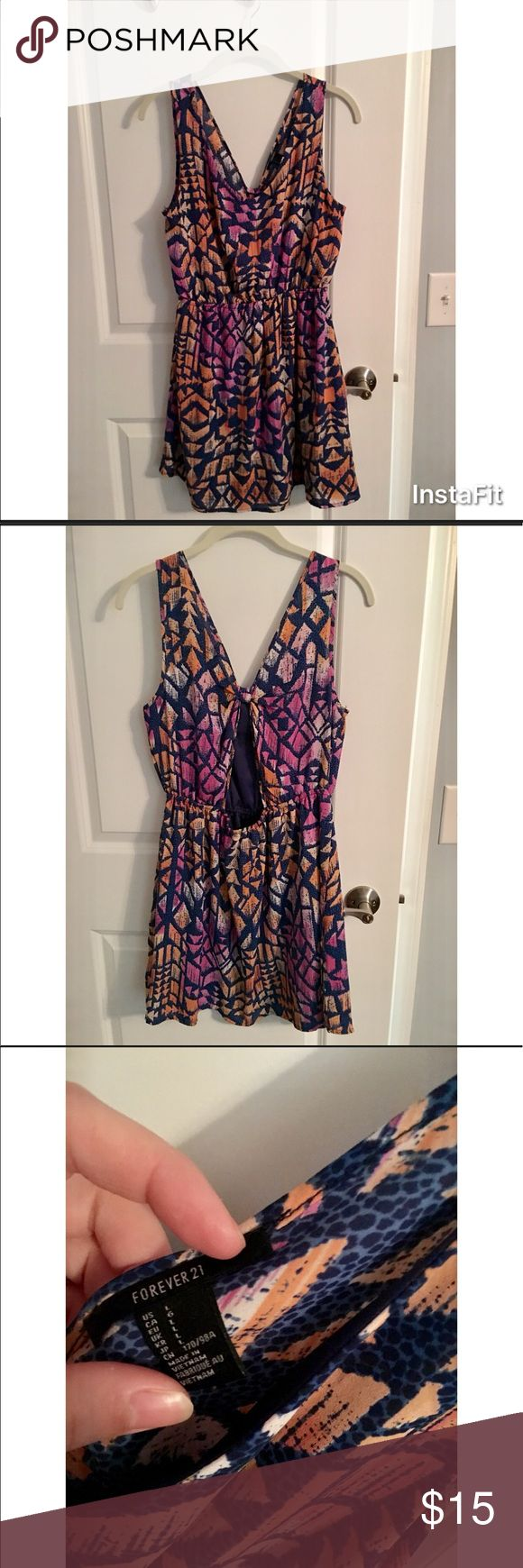 Forever 21 Summer Dress with open back Gently used Forever