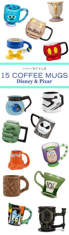 15 Disney & Pixar mugs to make a statement at work | Finding Dory + Toy Story + Star Wars + Winnie the Pooh + Mickey Mouse | [ https://style.disney.com/shopping/2016/07/20/15-disney-mugs-to-make-a-statement-at-work/ ]