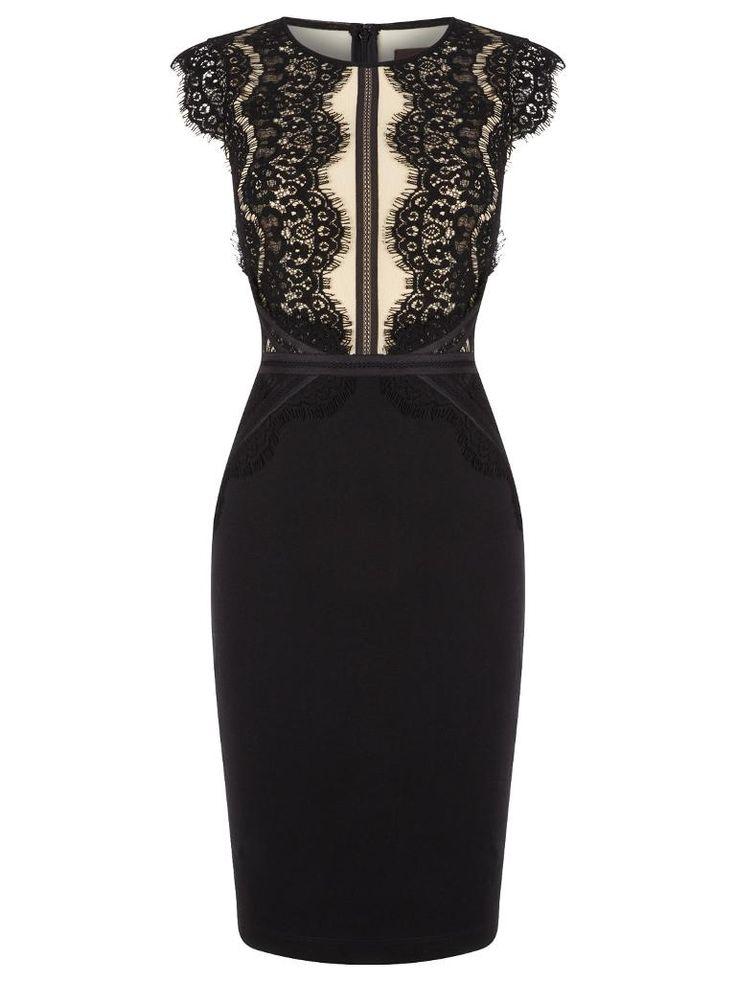 Buy Phase Eight Ivana Midi Dress, Black Online at johnlewis.com