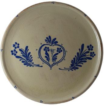 """Dienblad """"Blauw"""" - aardewerk uit Soufflenheim, Elzas"""