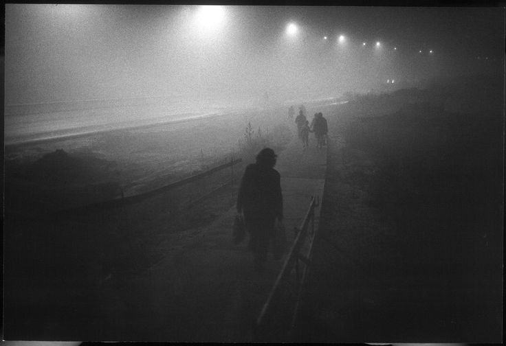 Locals walk through the fog in 1983. (Viktor Kolar)