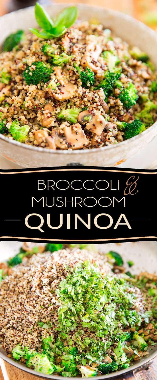 Diese Brokkoli Pilz Quinoa Ist Kostlich Warm Oder Kalt Vegane Rezepte In 2020 Vegan Quinoa Recipes Mushroom Quinoa Healthy Recipes