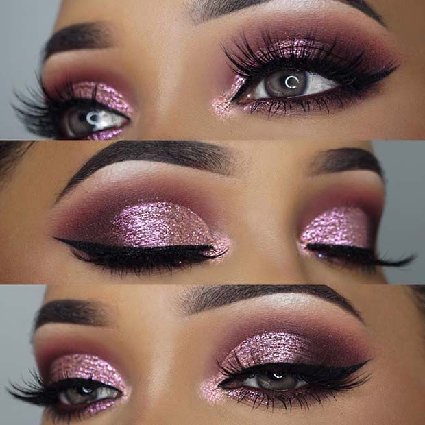 Elegant Pink Prom Makeup Pink Eye Makeup Pink Makeup Smokey Eye Makeup