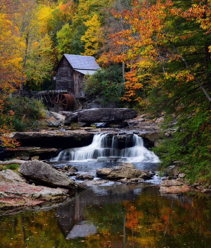 Babcock State Park, Dolly Sods Wilderness Area in the Allegheny Mountains of eastern West Virginia (part of the Monongahela National Forest). Photo by Bernard Chen.