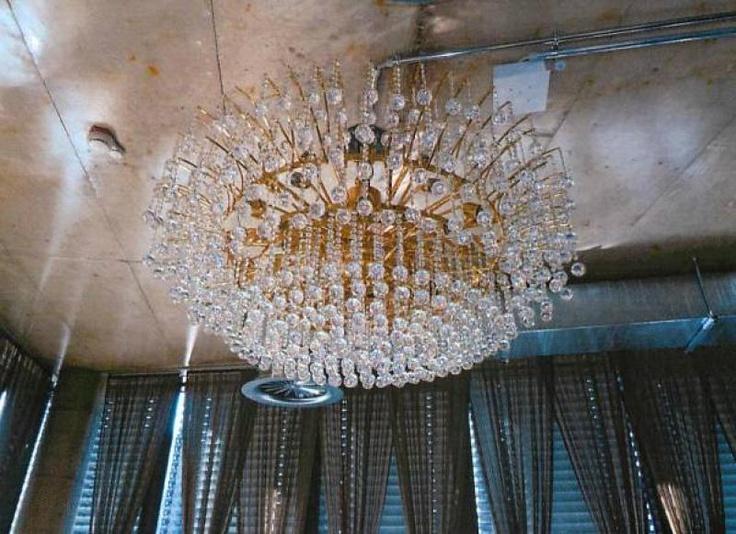 Kronleuchter Gold/Strass von Palme Leuchtenmanufaktur