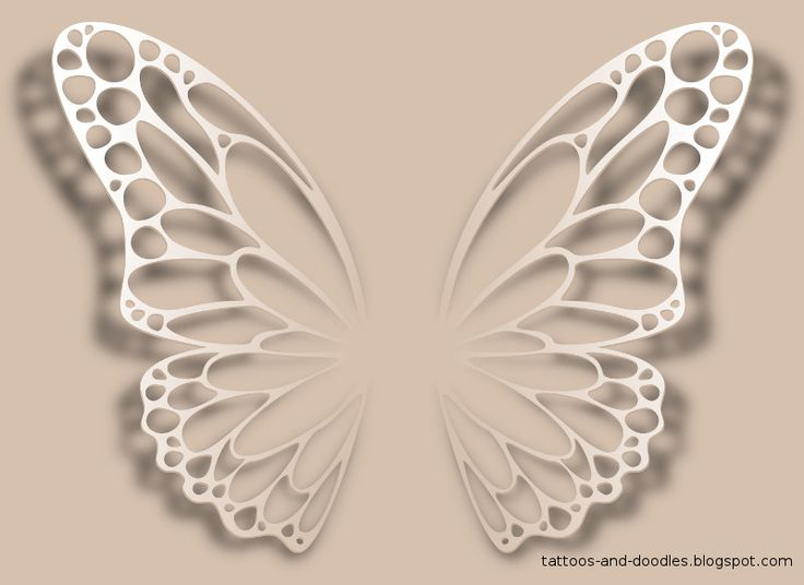 white ink butterfly tattoo - Google Search