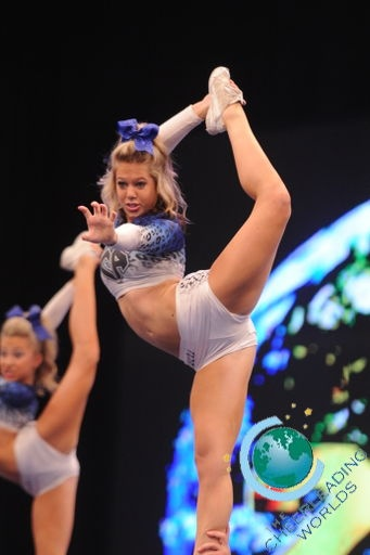 Ultimate Extreme Cheerleading, #cheer scorpion, competitive cheerleading, cheerleader, stunt moved from Kythoni's Cheerleading: Stunts: Bow & Arrow, Heel Stretch, Scorpion & Scale board http://www.pinterest.com/kythoni/cheerleading-stunts-bow-arrow-heel-stretch-scorpio/ #KyFun kcwftp m.27.4