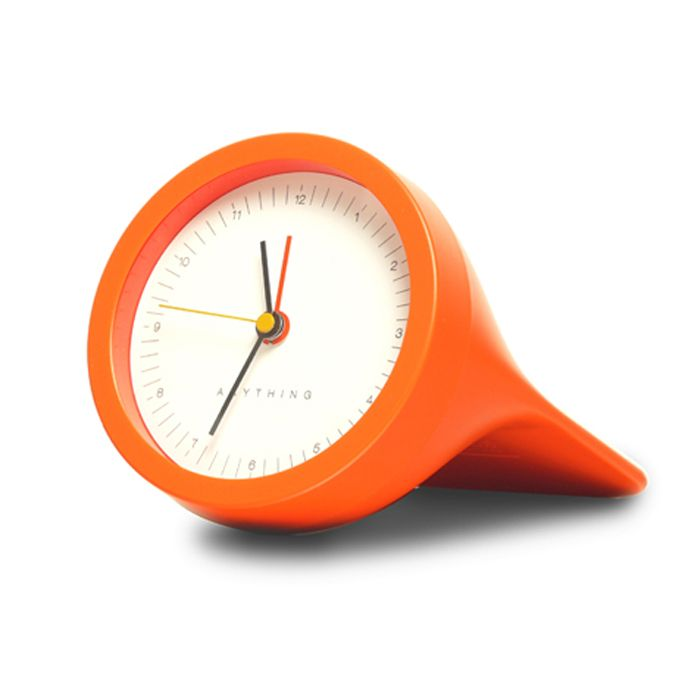 Michael Sodeaus Anything Desk Accessories. The scissors design is outstanding. A pair stands on the desk inside of a very small base. Comes in Yellow, White, Black, Orange. the clock is okay. the stapler, same old same old. but the scissors...terrific gift.