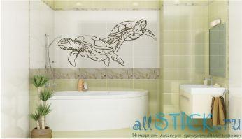 Наклейка Морские черепахи из каталога интернет-магазина