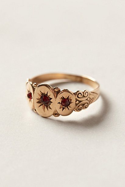 Vintage Garnet Gypsy Ring by #shopFiligree #anthropologie