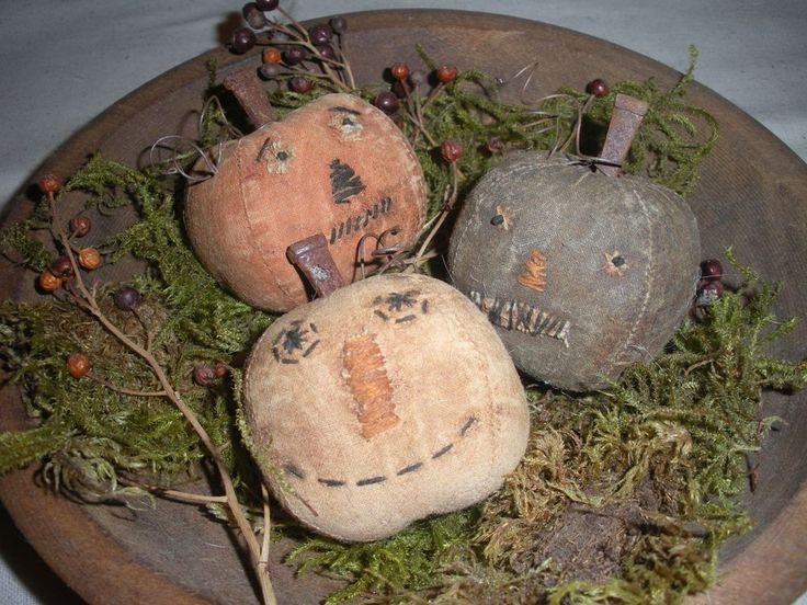 Primitive Fall Halloween Pumpkin Bowl Fillers