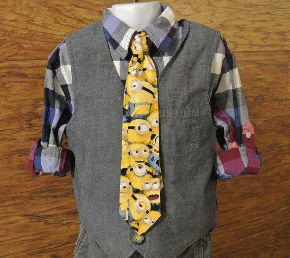 Minion Clip-on Necktie / Little Boy's Clip by DesignwithElegance