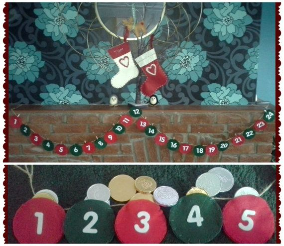 Felt Advent Calandar  Ideal countdown to by NandDCraftCabin, £15.00