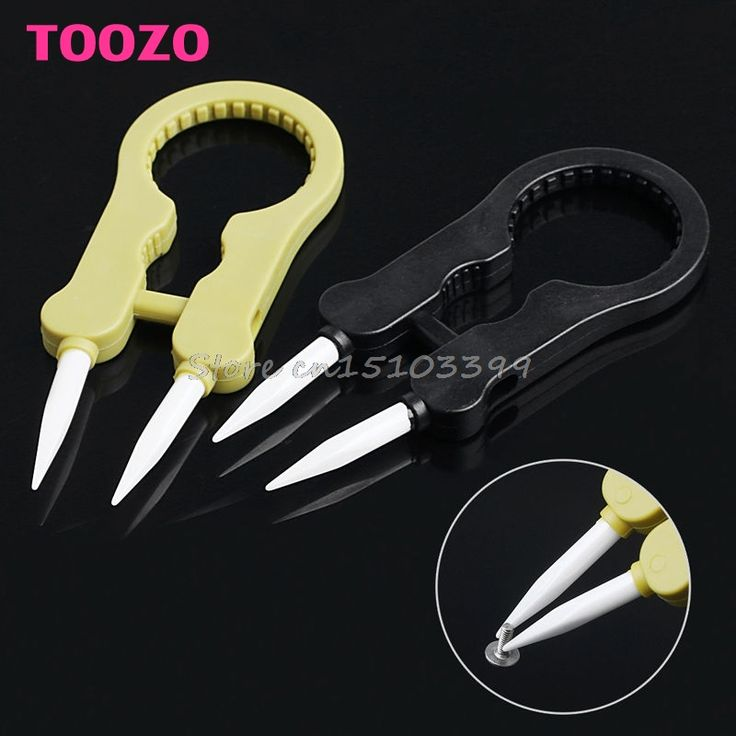 Multifunctional Steam Vaper Ceramic Insulation Head Tweezers Forceps 2 Color -Y121 Best Quality