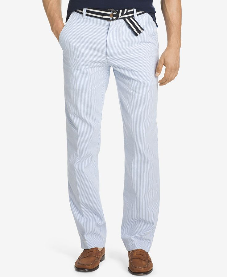 Izod Men's Big and Tall Seersucker Pants