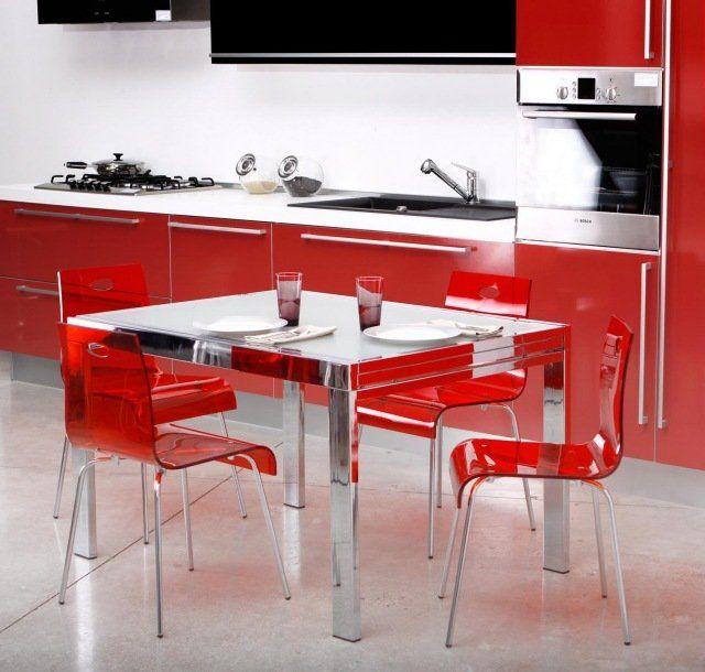 Les Meilleures Images Du Tableau Cuisine Sur Pinterest - Chaises de cuisine rouge pour idees de deco de cuisine
