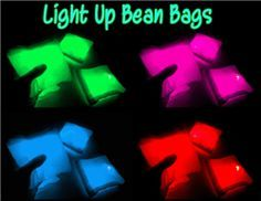 http://www.glowcity.com/light-up-led-bean-bags-p/cornhole_beanbags.htm  Brand New GlowCity Led Bean Bags. These Led Bean Bags Would Work Great For Any Kind Of Bean Bag Game. The Bags Are Impact Activated and Very Well Made.