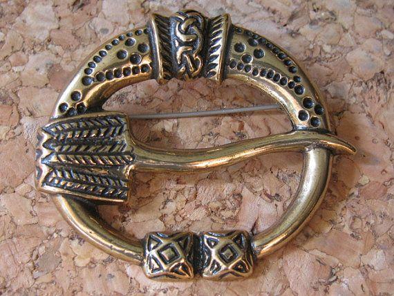 Finnish Kalevala Koru Oy Bronze Brooch Vintage Jewelry 11th Century Reproduction