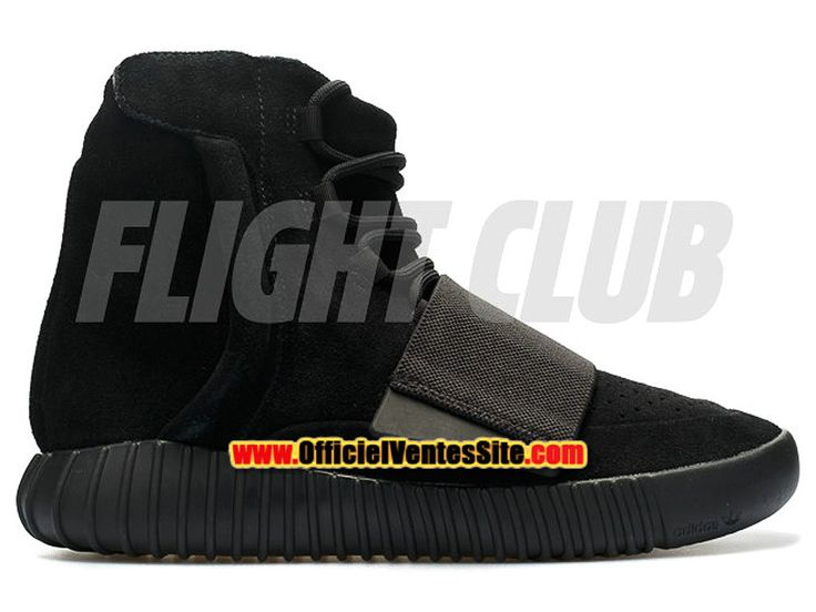 """Adidas Yeezy Boost 750 """"Triple Black"""" Chaussures Kanye West Pas Cher Pour Homme Noir bb1839"""