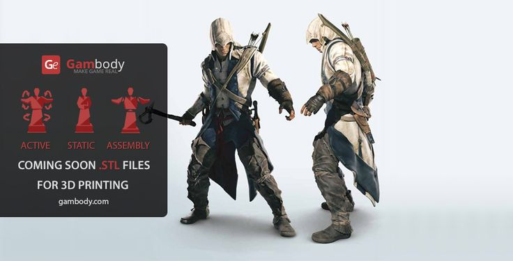3D models of Assassin's Creed (Static Figure) - Assassins Creed for 3D Model for printing #3dmodels #3dprint #3dasssincreed