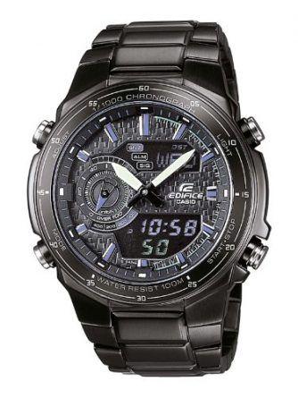 CASIO-Edifice-EFA-131BK-1AVEF-Reloj-de-caballero-de-cuarzo-correa-de-acero-inoxidable-color-negro-con-alarma-luz-cronmetro-0