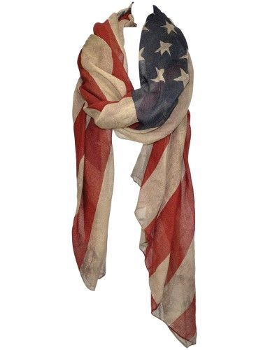 Vintage Patriotic Americana USA Flag Scarf - Doubles As A Shawl, Wrap Etc | Jet.com