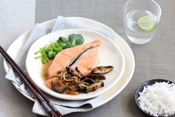 Regal Salmon Fresh Cuts Loins with Shiitake Mushrooms and Oyster Sauce  http://www.regalsalmon.co.nz/recipes/regal-salmon-fresh-cuts-loins-with-shiitake-mushrooms-and-oyster-sauce