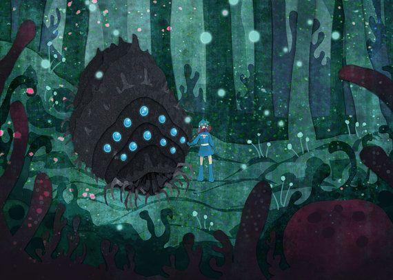 Corrupted Forest Nausicaa miyazaki 5x7 art print by theGorgonist