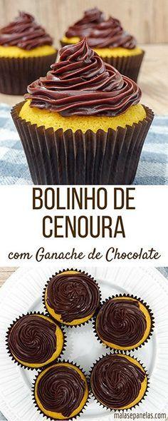 Bolinho de Cenoura com Ganache de Chocolate | Malas e Panelas