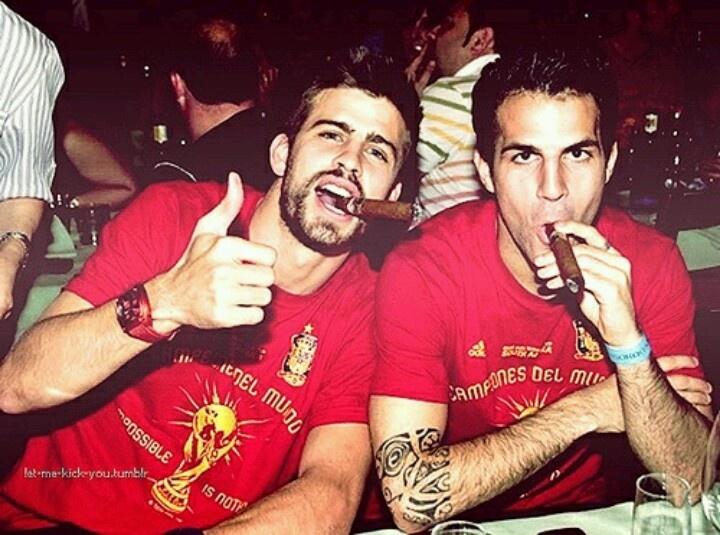 Pique & Fabregas<3