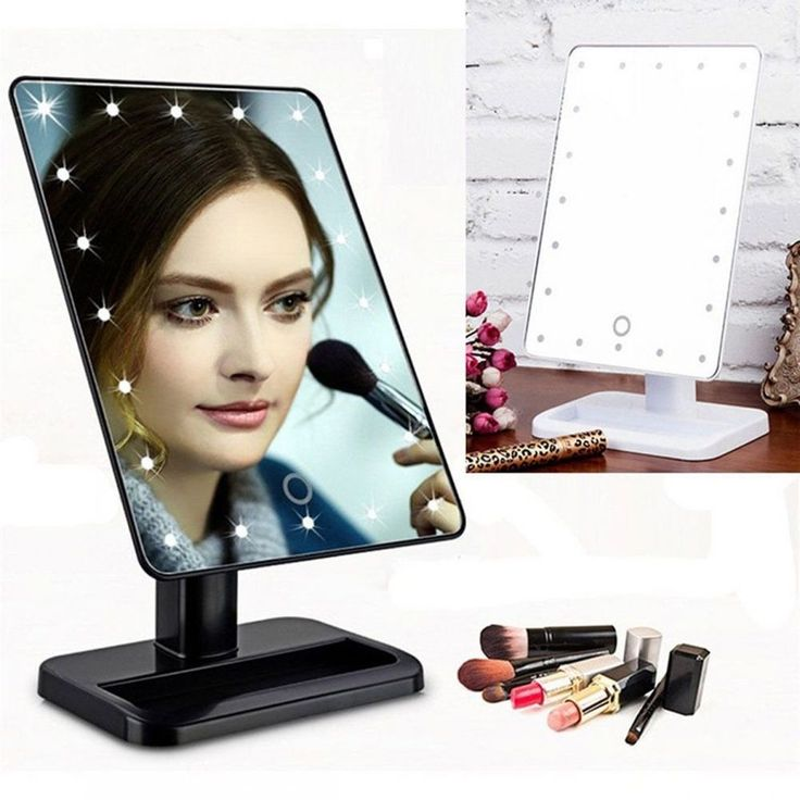 20LED Touch Screen Makeup Mirror Tabletop Lighted Cosmetic Vanity Mirrors MAKEUP #Unbranded