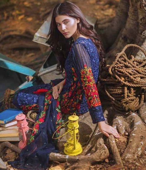 Mina Hasan Embroidered Chiffon Suits Collection 2016 Volume-2 MH_11