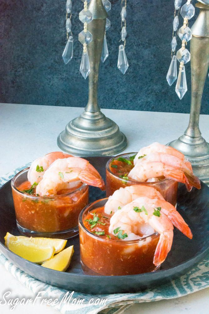 Quick Low Carb Sugar-Free Shrimp Cocktail Sauce made with just 5 ingredients- http://www.sugarfreemom.com
