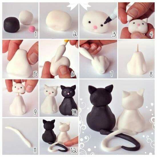 Kitty Love Clay Cutie Could make into Luna and Artemis ♡