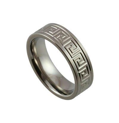 Trending titanium mens wedding bands engraved