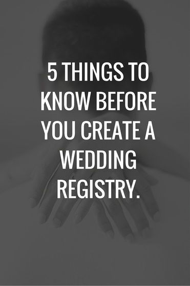 Best 25 wedding registry finder ideas on pinterest registry things to know before creating wedding registry junglespirit Choice Image