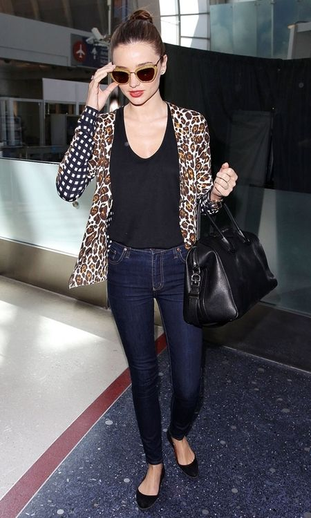 Miranda Kerr Street Style. | Travel In Style- Airport Chic | Pinterest | Leather Satchel ...