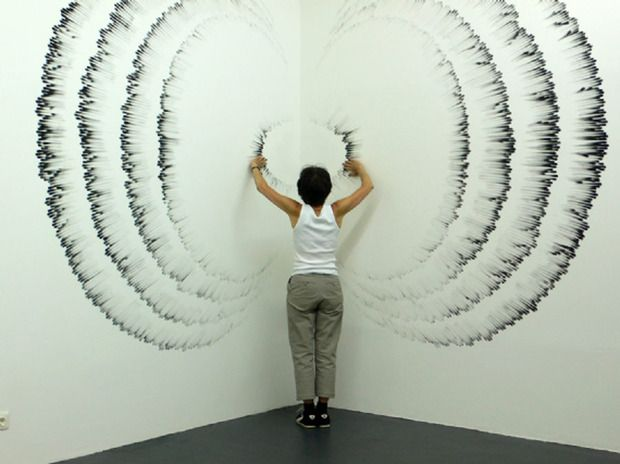 Judith Braun - Large Scale Finger Drawings