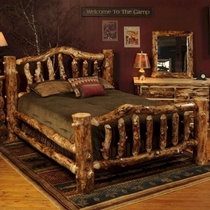 Best 25+ Log Bedroom Furniture Ideas On Pinterest | Log Furniture, Country  Cabin Decor And Log Projects