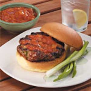 Asian Pork Burgers Recipe -My home state of Iowa is a leader in pork production. This recipe is a truly delicious and nutritious way to use ground pork.