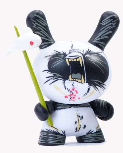 Kidrobot 2Tone Dunny Series Figure – Luck on a Spear Panda by Angry Woebots It is 3 inches tall. Series fold-out included. Your odds of pulling this figure out of a blind box from this series are 1 out of 32 boxes, which is only a 3.13% chance, but you are guaranteed this particular figure through this listing.