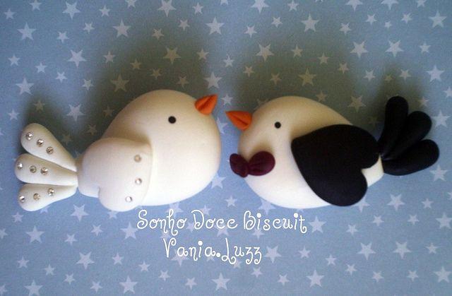 Imã ou aplique passarinhos noivos | Flickr - Photo Sharing!