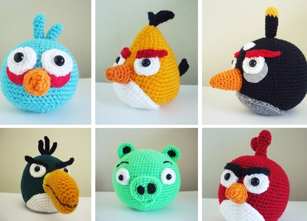 angry birds crochet patterns... FREE marleed
