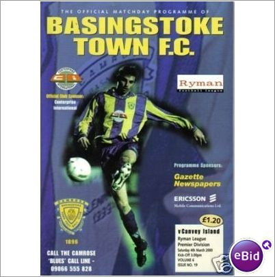 Basingstoke Town v Canvey Island 04/03/2000 Non League Football Programme Sale