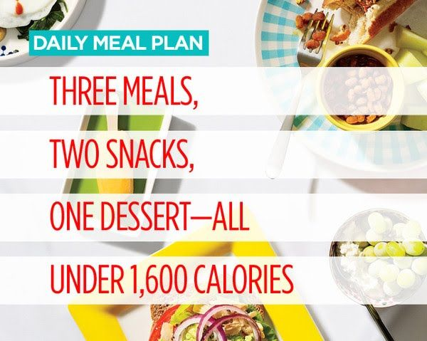 Daily Meal Plan: Three Meals, Two Snacks, One Dessert—All Under 1,600 Calories | Women's Health Magazine