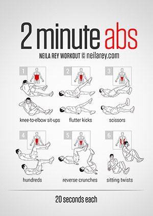 2 Minute AbsWorkout- Love this whole website!!