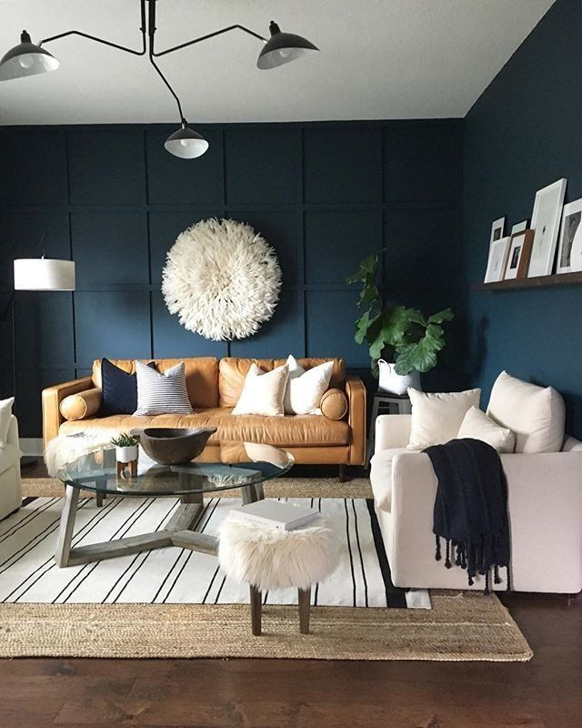 Pin By Maggie Flores On Living Room Accent Walls In Living Room Blue Walls Living Room Living Room Wall