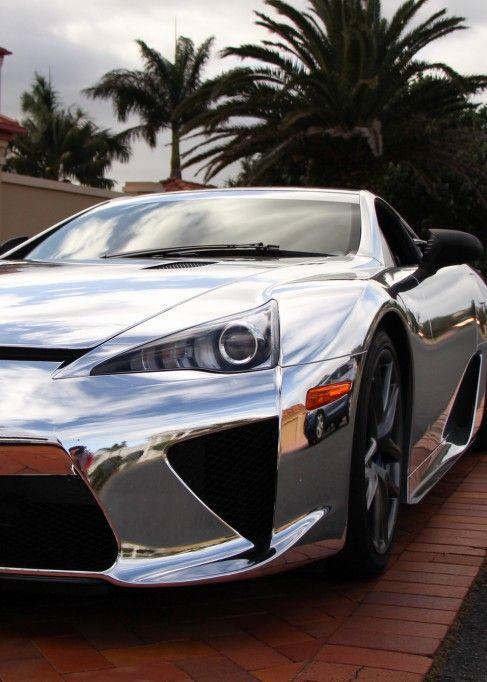 Lexus LFA chrome