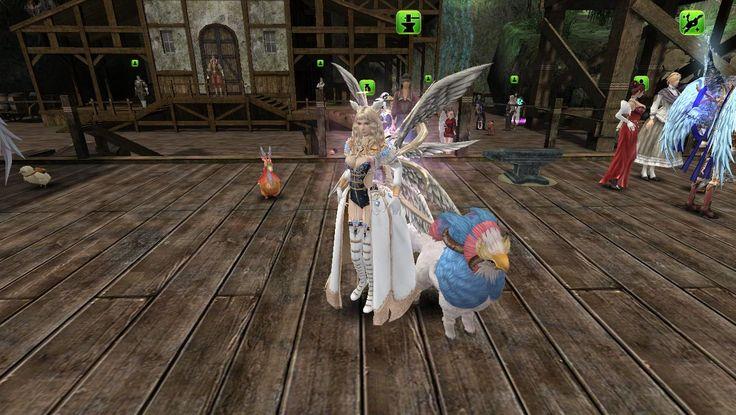 female Elementalist (warlock) wearin santos elementalist armor (34 Def. Rating base / original server is 36 dr)   silver phoenix back costume wing    Dvino pet
